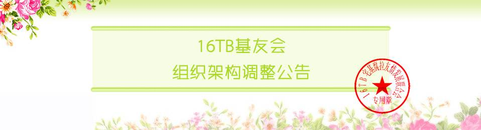 16TB基友会组织架构调整公告